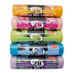 E-lite Style 20's 5 Colour Swing Bin Liners On Roll-Refuse Sacks & Bin-liners-Oh My Packaging