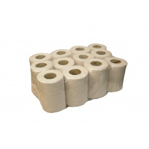 White Mini Centre Feed Hand Towel Rolls.-Paper Hygiene-Oh My Packaging