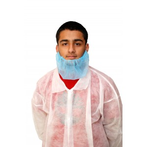 Blue Disposable Beard Nets-Protective-Oh My Packaging