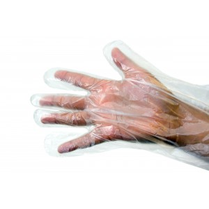 Medium Clear Polythene Gloves-Protective-Oh My Packaging