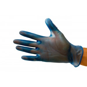 Small Vinyl Gloves Powder Free Blue-Protective-Oh My Packaging