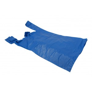 Falcon 1 Blue Recycled Vest Carrier Bags 11 x 17 x 21  (18 micron)-Blue Recycled Vest Carrier Bags -Oh My Packaging