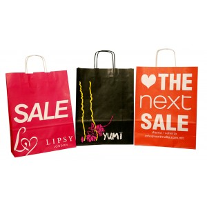 Twisted Handle Paper Carrier Bags -Bespoke Promotional Packaging-Oh My Packaging