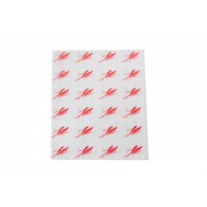 Burger Wrap Sheets Red-Food Wrapping Paper-Oh My Packaging