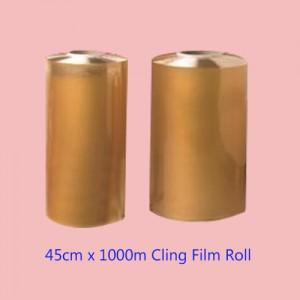 """18"""" PVC Millroll Cling Film 45cm x 1000m-Foil & Film-Oh My Packaging"""