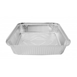 Aluminium Foil Containers  9 x 9 x 2.-Foil Containers & Lids-Oh My Packaging
