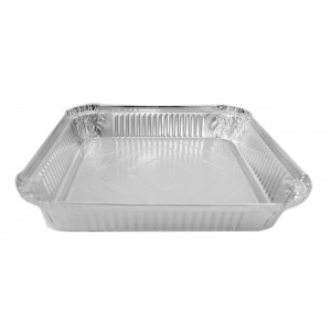 Aluminium Foil Containers  9 x 9 x 1.5 -Foil Containers & Lids-Oh My Packaging