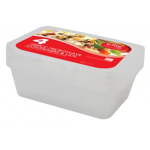E-lite Style 1000cc Micro Containers & Lids (4 Pack)-Catering Disposables-Oh My Packaging