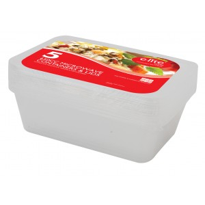 E-lite Style 650cc Micro Containers & Lids (5 Pack)-Catering Disposables-Oh My Packaging