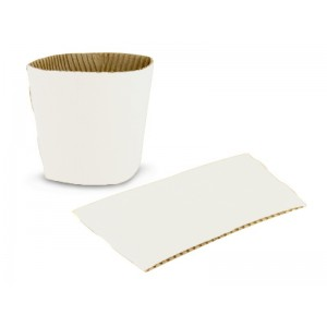 12 - 16 oz White Coffee Clutch Sleeves-Cup Holders-Oh My Packaging