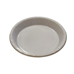 10'' E-lite Plus 1 Compartment Plastic Plate (50's)-Plastic Plates-Oh My Packaging