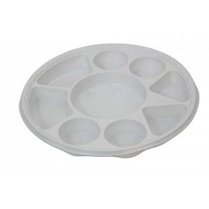 E-lite Plus 9 Compartment Round Plastic Plate (25u0027s) Heavy Duty | Packaging Supplies | Disposable Catering Supplies | Oh My Packaging  sc 1 st  Oh My Packaging : disposable plates uk - pezcame.com